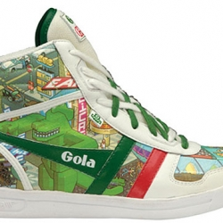 All eBoy fans can now wear the pixel graphics on their feet. They worked with Gola Classics on a couple of sneakers and matching bags.