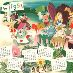 These vintage internal disney holiday cards/calendars are so fun to look through