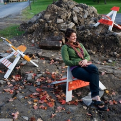 DPW ADK ~ the upcycled adirondack chair by Jeffery Gerlach and Andrew Stanley of Syracuse University Interaction Design