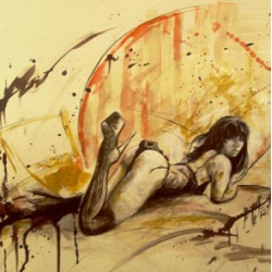 Tattoo artist, Taren Meacham, displays his talents in the world of fine art.