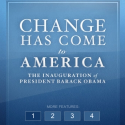 The redesigned WhiteHouse.gov site.  Change has indeed come!