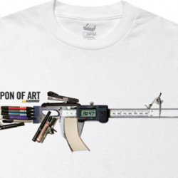 "Loving the ""Weapon Of Art"" graphic by Alphanumeric."