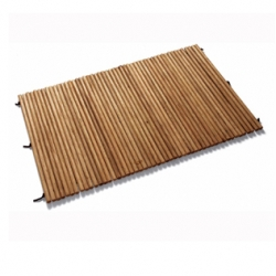 """I've had a thing for wooden bathmats the last few years... Seletti has a unique twist on it... """"Made from natural oak rods bound together with leather this bathmat gently massages the soles of the feet as you stand and walk on it."""""""