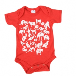 Adorable Animal Alphabet Onesie over at Threadless
