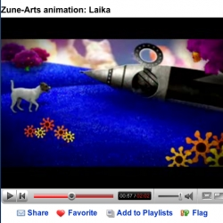 cool new Zune ad (made by my company) featuring Laika, the first dog in space set to an Aliens song - how appropriate! My own dog plays a supporting role - watch for her eating bacon at the end!