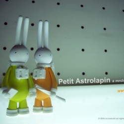 Petit Astrolapin figure (Yellow and Orange) ~ pre-orders! From the usual knife... to space?