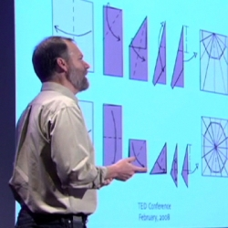 TED Talk with Robert Lang a pioneer of origami and a legend in the field -- using math and engineering principles to fold mind-blowingly intricate designs that are beautiful and, sometimes, very useful.