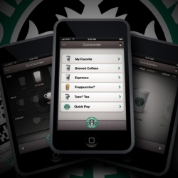 """Genoco design for """"quick order"""" - iphone/ipod touch application to order starbucks drinks without having to wait in line."""
