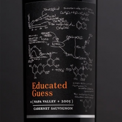Roots Run Deep's Educated Guess 2005 Cabernet Sauvignon ~ i hear its delicious ~ and i'm smitten by that label!!!