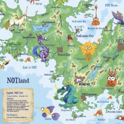 NOTland in Kidlandia! It's like Mad Libs into a crazy map of a mysterious land... make your own too!