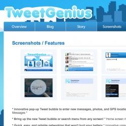 TweetGenius ~ nicest blackberry twitter app i've seen yet ~ nice work, Boy Genius!