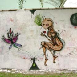 Beautiful new street art from Cena7 in São Paulo Brasil