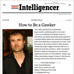 New York Magazine's Daily Intelligencer got their hands on an internal Gawker/Valleywag email on post writing tips... perhaps these could be well applied to caption writing.