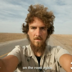 The Longest Way 1.0 - one year walk/beard grow time lapse. Man walks across China and photographs the grown of his beard.