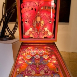 Mike Budai's Custom Pinball Machine - For the past month or so, this amazing custom pinball machine was on exhibit at the Warhol museum, part of the Funland exhibition