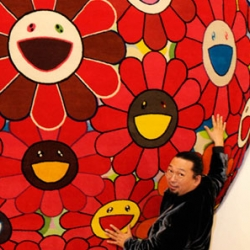 Japanese superstar artist Takashi Murakami now worked with Louis Vuitton on two rugs, both hand-produced in India.
