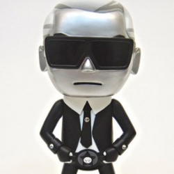 Karl Lagerfeld gets turned into a collectible figure by Tokidoki.