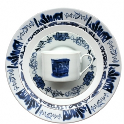 Lovegrove and Repucci have just released their follow up to their New York Delft Dinnerware with this set of London Delft  Dinnerware. 5 piece porcelain place setting is 100$. And totally cool.
