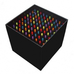 The outtasite lite brite table created by Jellio is a fun end table for grown ups or kids based on the classic game by hasbro.