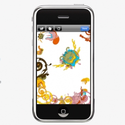 Loving Reflect, Joshua Davis's new iPhone App, allows you to work with shapes and colors, to design your own works of art - then view in a reflective kaleidoscope! 'Like having a crazy tattoo laden generative artist in your pocket'
