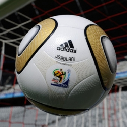 A very first look at the official soccer ball for the soccer worldcup final in South Africa was revealed today!