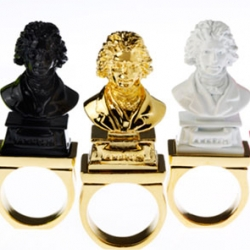 Japanese brand Ambush presents the Beeeeethoven jewelry series. Hilarious!