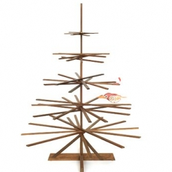 The PossibiliTree is one of the hippest Christmas trees I've ever seen. A fabulous collapsible walnut wood tree in a tabletop design based on an original by Richard Babcock.