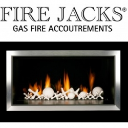 Lynn Kingelin Design Studio has just launched a new ceramic design for gas fires.  FIRE JACKS are an innovative alternative to faux coal, pebbles and logs and are set to become s 'must have design class