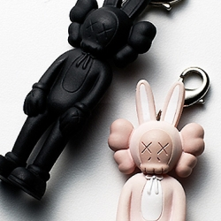 New York artist Kaws is releasing his new Accomplice bunny keyholders. Really cool!