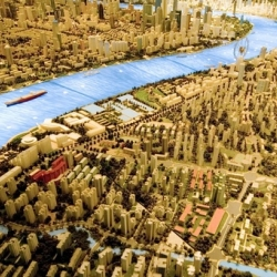 "Shanghai 2020! A 1,000 square foot model of the projected ""look"" of Shanghai China in 12 years."