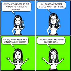 Brit loses her iphone in a cab in spain and shares the story via comic!