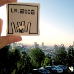 I Am 8 Bit news ~ mini canvases by various artists are spread around the city ~ find them and bring them to the show for lots of goodies... great concept! (except that you take the street art down)