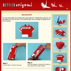Netflix origami!