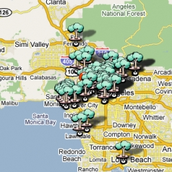 Parking Day LA is tomorrow! (sept 19) ~ here's a map of some parking spots that are becoming parkified...