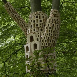 Super Kingdom by London Fieldworks ~ coolest cluster of birdhouse art i've ever seen!
