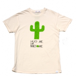 """Hug Me I'm Awesome"" Cactus tee ~ 2K by Gingham"