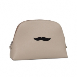 Mustache's are inescapable this season even more so than when mustache finger tattoos became trendy... Vlieger & Vandam Toiletry Bag (and this is only one of their many mustached pieces)