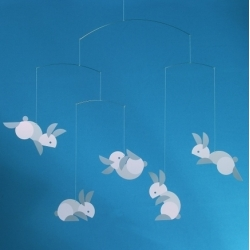 """Flensted Mobiles Circular Bunnies Mobile - so so so cute ~ and 10% off at design public with the code """"FOODCOMA""""  until 12/1"""