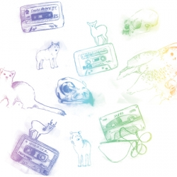 wildlife and mixtapes. what could be a better combo? illustrations by Helen Eady