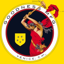 rad logo for venice beach ad agency, Goodness Mfg., couldn't help but buy a t-shirt!