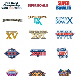 Every Superbowl Logo to date...