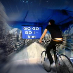 a very interACTIVE xmas idea by gluelondon.com ~ encourage the live bike riders on as they try to make it to lapland!