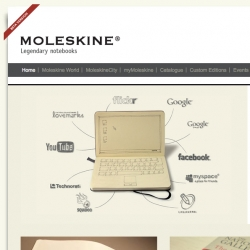 The official Moleskine.com website has just relaunched, sporting an all-new look with lots of content including the new MSK format that lets you print your own pages.