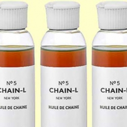 Cheeky branding - Chain-L, the next generation luxury chain oil.