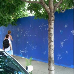 "Wooster has a great piece on ""Sally's Beautiful Blue Wall"" ~ and the controversy of street art..."