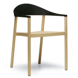 'monza' armchair by konstantin grcic for plank ~ beautiful stacking chairs! the injection moulded back rest of the armchair connects to a simple wood-construction