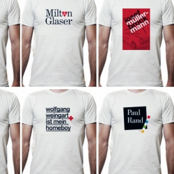 Paul Nini has an awesome series of Graphic Design Heroes Tees!!!