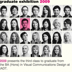 Irish college IADT is currently running their end of year Graduate show for 2009,here are the online portfolios of of the department of Visual Communications.