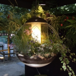 """Jardins Jardin, Paris' largest and chic-est gardening fair just opened in the Tuileries Garden"" and The Horticulturalist has a nice look at some of the innovative displays! From grassy hybrid pillows to this gorgeous lamp!"