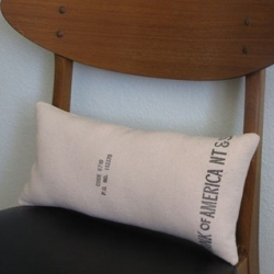 Vintage Moneybag throw pillows